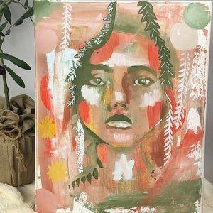 Original acrylic painting on canvas art work 11x14